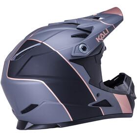 Kali Zoka Stripe Helmet Youth, czarny/brązowy
